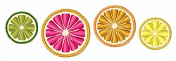 Citrus Fruit embroidery design