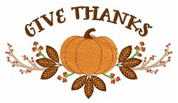 Give Thanks embroidery design