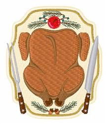 Turkey Platter embroidery design