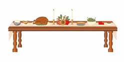 Thanksgiving Table embroidery design