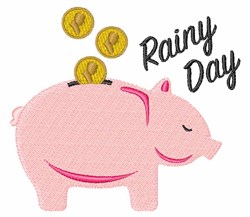 Rainy Day Fund embroidery design