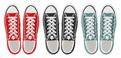Grunge Shoes embroidery design