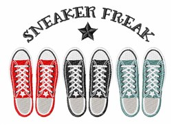 Sneaker Freak embroidery design