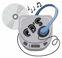 CD Walkman embroidery design