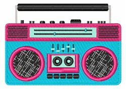 Boom Box embroidery design