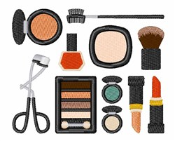 Variety Of Makeup embroidery design