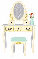 Beauty Vanity embroidery design