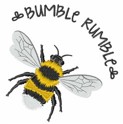 Bumble Rumble Bee embroidery design