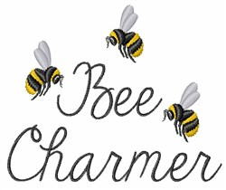 Bee Charmer embroidery design
