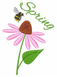 Spring Bee embroidery design