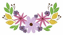 Floral Blooms embroidery design