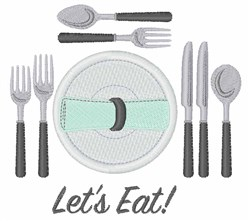Lets Eat! embroidery design