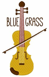 Blue Grass Fiddle embroidery design