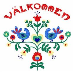 Valkommen Floral Border embroidery design