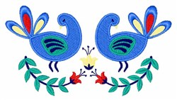 Bird Floral Border embroidery design