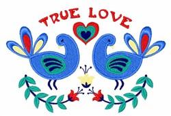 True Love Birds embroidery design