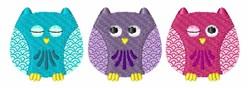Owl Border embroidery design