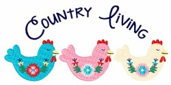 Country Living Border embroidery design