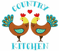Country Kitchen Roosters embroidery design
