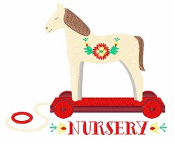 Nursery Horse embroidery design