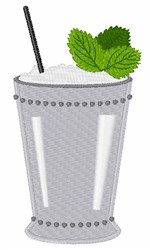 Mint Julep Drink embroidery design