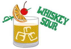 Whiskey Sour embroidery design