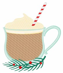 Eggnog Drink embroidery design