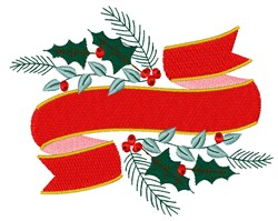Christmas Ribbon embroidery design