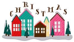 Christmas Houses embroidery design