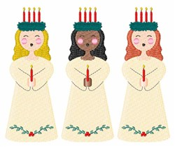Christmas Carolers embroidery design