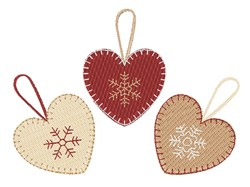 Heart Ornaments embroidery design