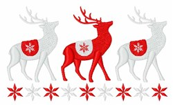 Winter Reindeer embroidery design