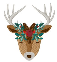 Mistletoe Reindeer embroidery design