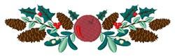 Pinecone Border embroidery design