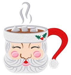 Santa Mug embroidery design