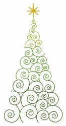 Swirl Tree embroidery design