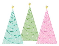 Holiday Trees embroidery design