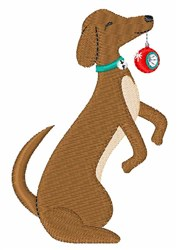 Holiday Dog embroidery design