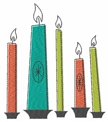 Holiday Candles embroidery design