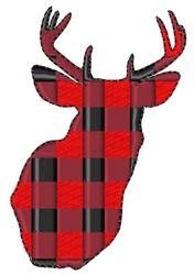 Plaid Deer Head embroidery design