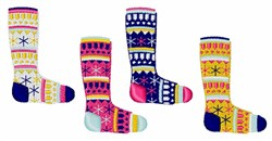 Faire Isle Socks embroidery design