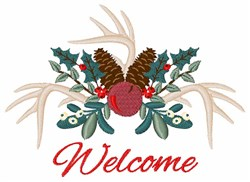 Christmas Welcome embroidery design