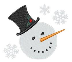 Snowman Snowflakes embroidery design