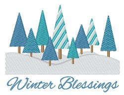 Winter Blessings embroidery design