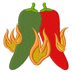 Hot Chili Peppers embroidery design