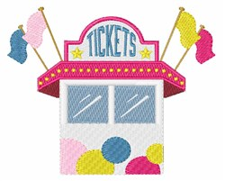 Ticket Booth embroidery design