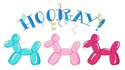 Balloon  Hooray embroidery design