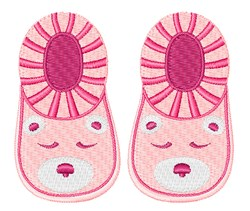Pink Booties embroidery design