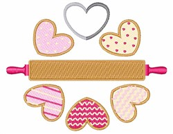 Valentine Cookies embroidery design