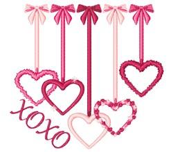 XOXO Hearts embroidery design